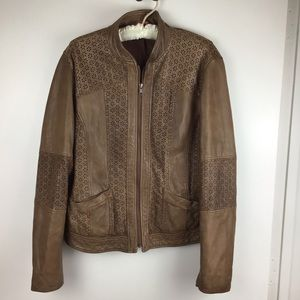 Sundance | Brown Lamb Leather Jacket